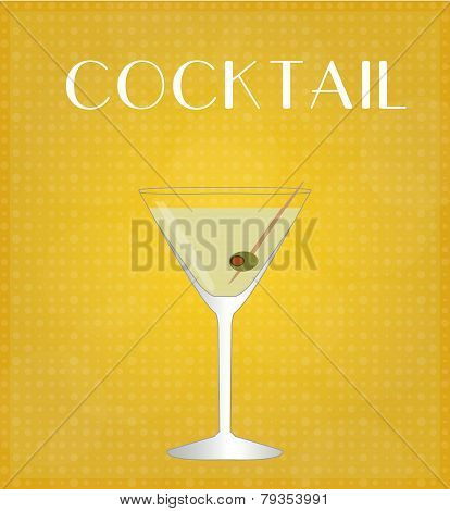 Drinks List Martini With Golden Background