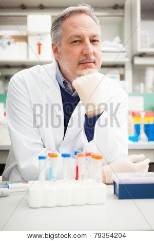 Portrait of a senior scientist in his laboratory