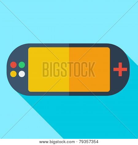 Modern flat design concept icon video game consoles. Vector illu