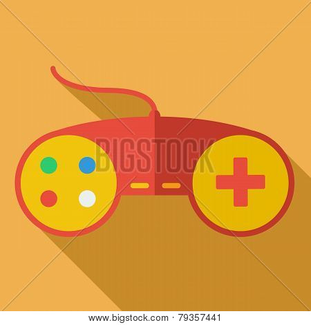 Modern flat design concept icon. Gamepad