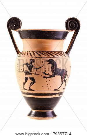 Ancient Vase Over White