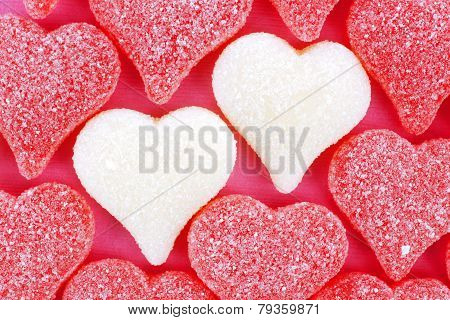 Heart shaped Valentines candy