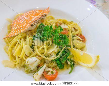 Spicy Crab Spaghetti