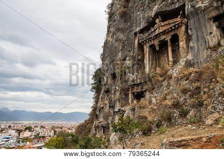 Lycian Rock Tombs - Fethiye, Turkey
