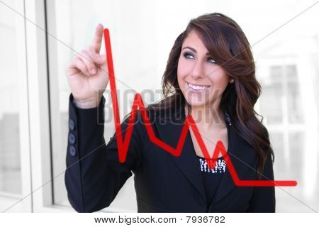 Woman Making Graph Chart