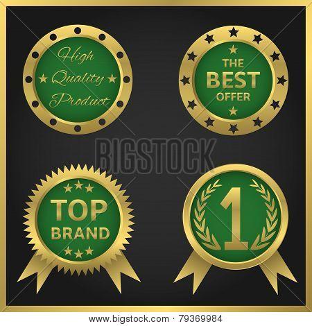Vector golden seals-stickers
