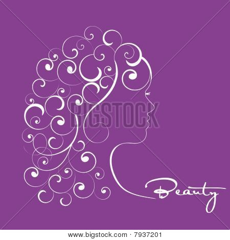 Woman with Curls