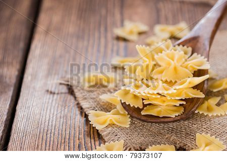 Farfalle On A Wooden Spoon