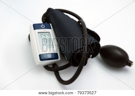 Blood pressure meter medical on white background.