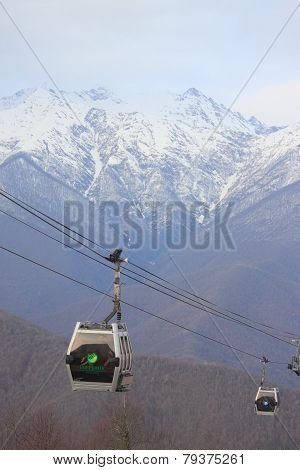 cable car in Krasnaya Polyana