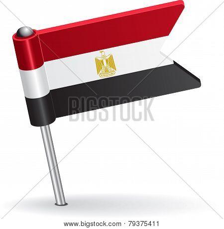 Egyptian pin icon flag. Vector illustration