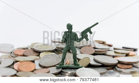 sosoldier toy with coins