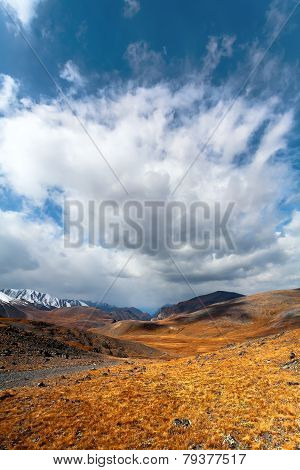 Steppe Mountains Cloud.