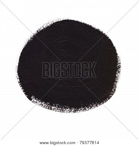 Black Circle Acrylic Banner