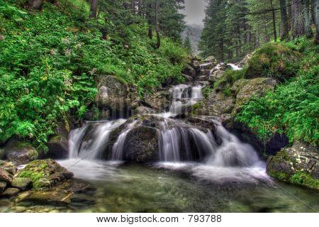 Waterfall in national park Rila