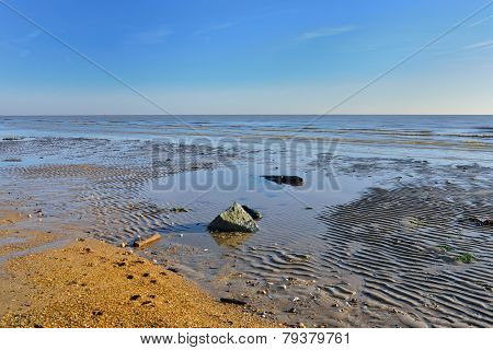 Deserted beach and coast