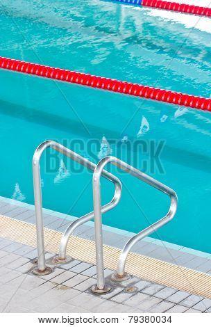 Stair At Swimming Pool.