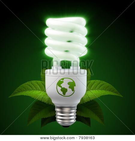3d render light bulb on black