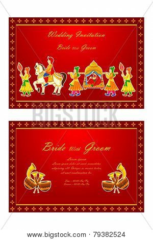 Indian wedding invitation card