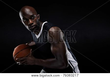 Young Basketball Player Looking Away