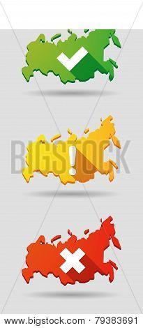 Russia Map Survey Icon Set
