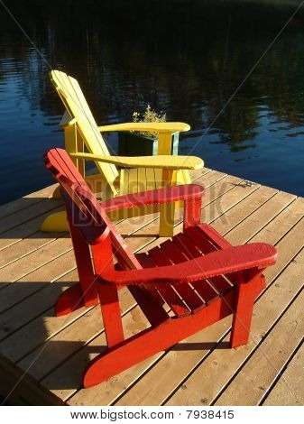 Muskoka Chairs on the Dock