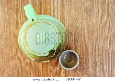 Plastic Teakettle And Teacup