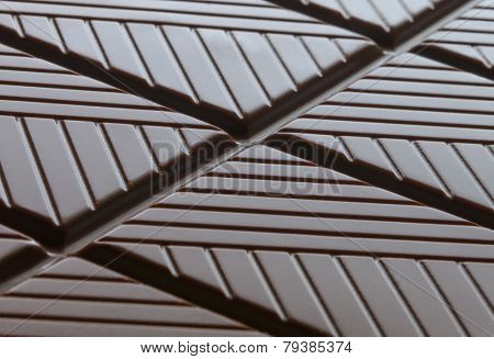 Background of Dark Chocolate. Sweet Dessert