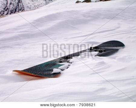freshly dampened hot snowboard!