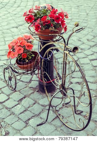 Decorative Bicycle With Flower Pots