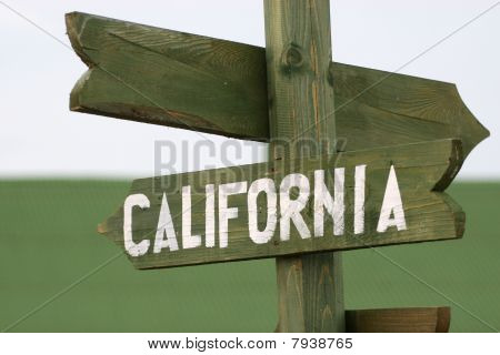 Mile Signpost To California