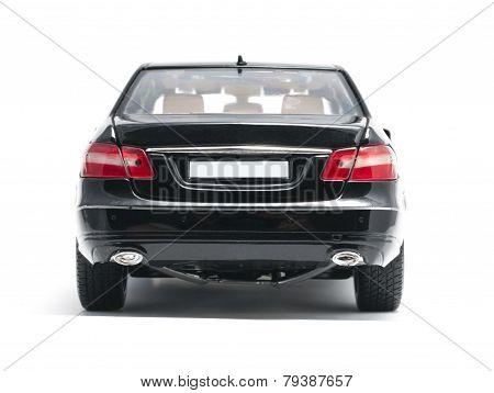 Black Car Back View