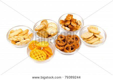 Bowls of pretzels