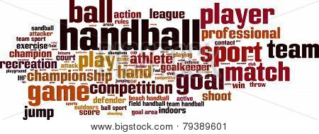 Handball Word Cloud
