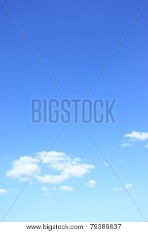 Blue sky with clouds with big space for text