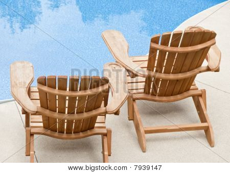 Muskoka Chairs by the Pool