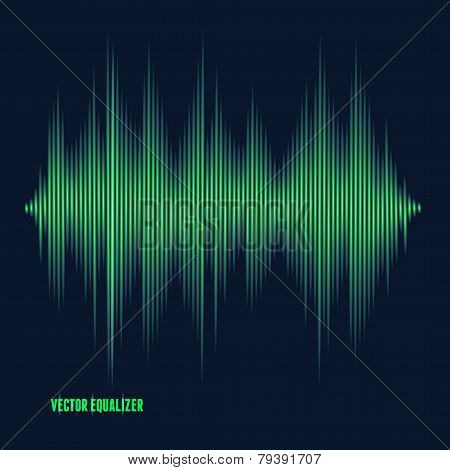 Vector equalizer, colorful musical bar.