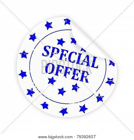 Round White Sticker Special Offer