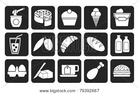 Silhouette Dairy Products - Food and Drink icons