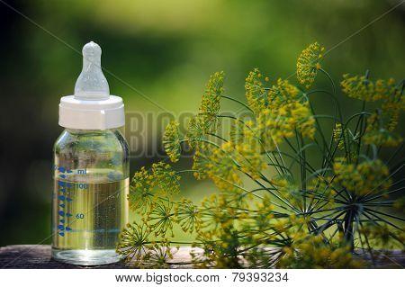 Bottle Of Herbal Tea For Baby