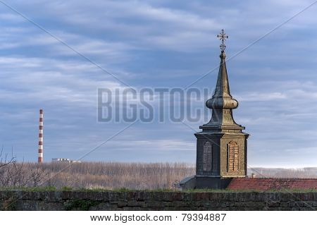 Church Belfry Overlooking Petrovaradin Novi Sad Serbia