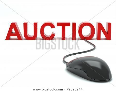 Auction connected to a computer mouse