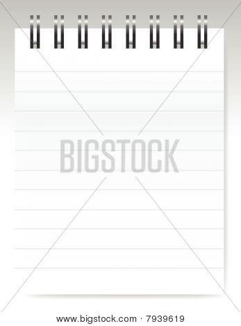 Blank notebook / vector