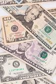 picture of two dollar bill  - Dollar Bills close up - JPG