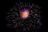 pic of guy fawks  - fireworks exploding in the night sky on New Year day - JPG