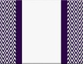 stock photo of chevron  - Purple and White Chevron Zigzag Frame with Ribbon Background with center for copy - JPG