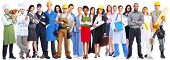 picture of plumber  - Group of workers people - JPG