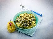 picture of turnips  - tagliolini with turnip top and hot chili pepper - JPG
