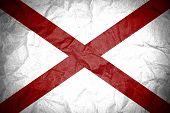 image of alabama  - Grunge of Alabama flag on crumpled paper - JPG