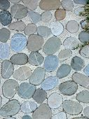image of pavestone  - Detail of a cobble brick road - JPG